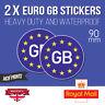 2x Euro GB Stickers EU European Road Legal Car Badge Vinyl