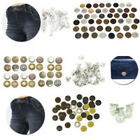 Mixed Hammer On Metal Jeans Buttons for Jackets Clothes Trousers Embellishments
