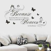 Home Quote Wall Stickers Art Room Removable Decals 52*95cm W5B1