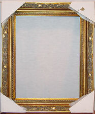 "ANTIQUE GOLD ORNATE HEAVY WOODEN PICTURE FRAME 18"" X 15"" OVERALL NEW IN PACKAGE"