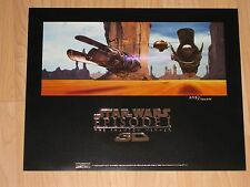 Star Wars Episode 1 The Phantom Menace 3D Limited Edition Lithograph Doug Chiang