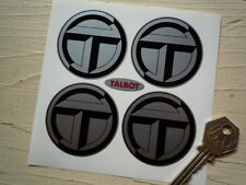 TALBOT Wheel Centre Style Stickers 50mm Black & Silver SUNBEAM LOTUS Samba WRC