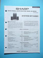 manuels de réparation pour Sharp system-w11, original