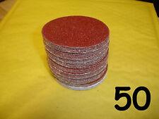 """50 - 2"""" - 50mm - 60 80 120 240 400 Discos De Lijado Velcro mezclado grano de Mano Almohadillas"""