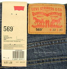 Levis 569 Jeans New Mens Loose Straight Size 33 X 30 INDIE BLUE Levi's NWT #1003