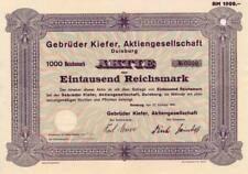 Fratelli Pino AG Duisburg storica azione ordinaria 1941 svedese volontà NR