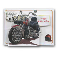 Pictoria Press 3D Pop Up Greeting Card Motorbike Harley Davidson Birthday Dad