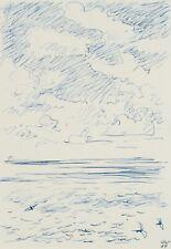 H.WINGLER (*1896), Das Haff von Sylt , 1959, Federzeichnung