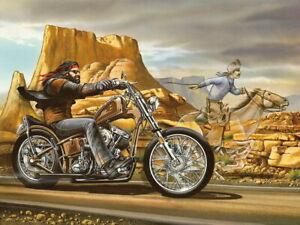 V8941 Ghost Rider David Mann Cult Biker Painting Art WALL POSTER PRINT UK