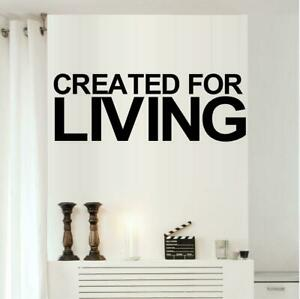 """Created For Living Vinyl Decal Home Décor 18"""" x 7"""""""