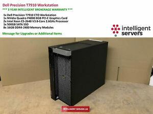 Dell T7910 Workstation  Xeon E5-2640 V3 2.60GHz  128GB  500GB SSD  Quadro P4000