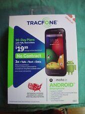 Tracfone Motorola Moto E Prepaid Phone w/ Triple Minutes Andriod Smartphone