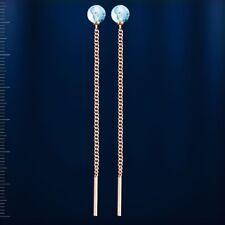 Treader Topaz Earrings Russian Solid Rose Gold 585/14k Briolette Cut 1 12g