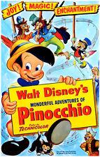 Vintage Disney ( Pinocchio Movie ) Collector's Poster Print - B2G1F