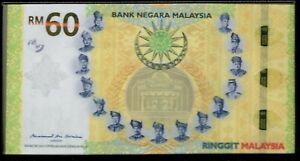 Malaysia 60 ringgit commemorative 60th yr independence 2017 folder w certificate