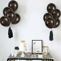 10Pcs Latex Balloon Cheers&Beers To 30/40/50 Years Birthday Party Decor Happy