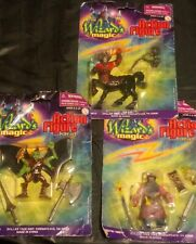 Wizard's Magic Action Figure Lot Of 3 NEW (minor wear vintage)
