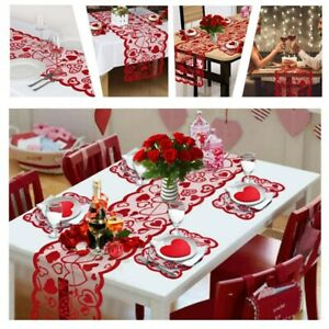 Table Runner Cover Cloth Tablecloth Placemats Dining Cloth For Valentine Decor