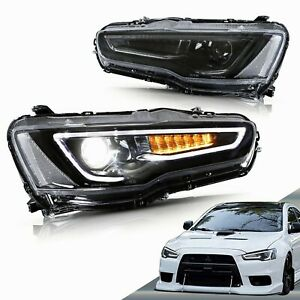 VLAND LED Headlights For [Mitsubishi Lancer EVO X] 2008-2017 With Sequential