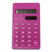 Candy Color Solar Battery Calculator Counter Random Tools Color Office Stud T3G4