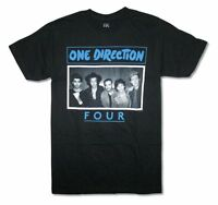 One Direction Four Band Image Adult Black T Shirt Boy Band Pop Music