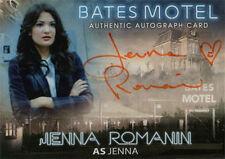 Bates Motel Autograph Card AJR Jenna Romanin as Jenna Orange Ink Heart