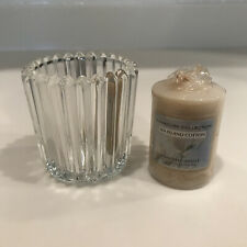 Crystal Candle Holder for Tea and Votive Candles (includes a votive candle)