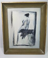 Velma May Howell Original Painting Nude 1950's 1960's New Mexico artist