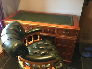 yew desk and captains chair