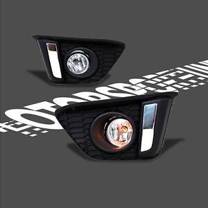 Fit for 14-16 Fit/Jazz Hatchback GK5 Car Bumper DRL Daytime Running Fog Lights