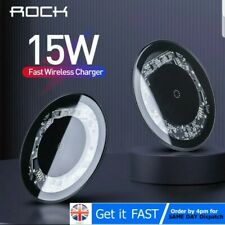 Rock 15W Qi Wireless Charger Fast Charging Mat for iPhone 11 X Samsung S10 S9