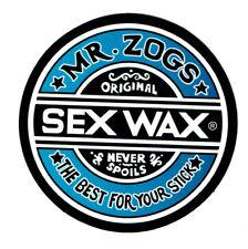 "MR ZOGS SEX WAX Blue Fade Sticker Decal 3""x3""...Surf Skateboard Surfing Zoggs"