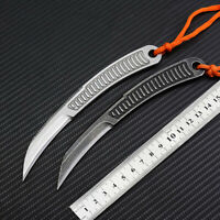 New CNC All Steel Handle 440C Blade Survival Hunting Karambitl Claw Knife C42