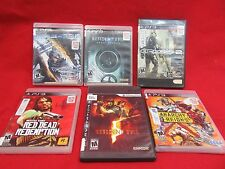 6  PS3 GAMES- RATED M - Action,, Adventure, See description for list of games