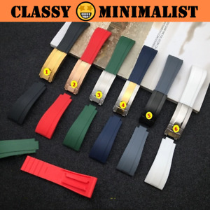 YACHT-E 20mm Natural Rubber WatchStrap for Daytona Submariner GMT Datejust (New)