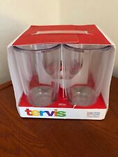 Tervis Tumbler Set of 4 Clear 16 oz Microwave Freezer Dishwasher Safe New!