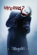 "BATMAN JOKER - WHY SO SERIOUS - DARK KNIGHT - LEDGER  - Movie Poster ""24 x 36"""