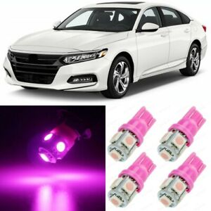 16 x Ultra PINK Interior LED Lights Package For 2013 - 2020 Honda Accord +TOOL