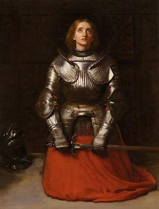John Everett Millais - Joan of Arc Vintage Fine Art Print