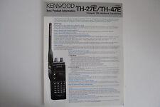 Kenwood TH-27E/TH-47E (authentique notice uniquement)... radio _ trader _ irlande.
