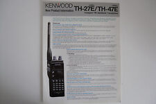 Kenwood TH-27E/TH-47E (sólo Genuino prospecto)... radio _ trader _ Irlanda.