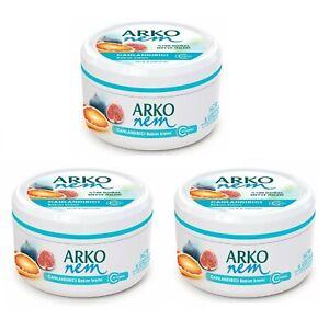 3 x ARKO NEM MOISTURISING CREAM AFTERSHAVE FACE HAND BODY FIG & GRAPEFRUIT 300ML