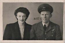 WW2 RAF Royal Air Force Air Gunner with Wife or Girlfriend March 1945