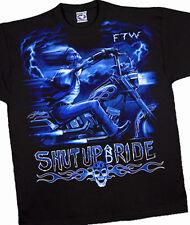 Stormrider, Liquid Blue, Long Sleeve, Black T-Shirt in Large