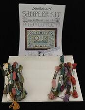 Peaceful Garden Sampler MOIRA BLACKBURN UK w 20 DMC Floss Fabric