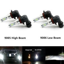 4x 9005 & 9006 CSP LED High Low Beam Headlight Bulbs 75W 8000LM Plug And Play
