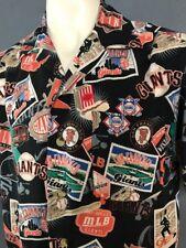 Vintage San Francisco Giants  Hawaiian  Shirt M made By Lee sports Genuine MLB