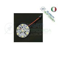 Basetta con LED 3 watt SMD 5730  6 led totale 3w bianco freddo diametro 32mm