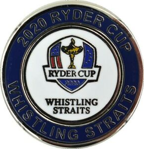 2020/2021 RYDER CUP (Whistling Straits) DUO GOLF BALL MARKER w/Removable Mark