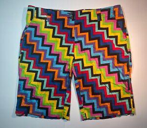"Loudmouth Golf Ladies Shorts Size 14 / 36"" Zig Zag"